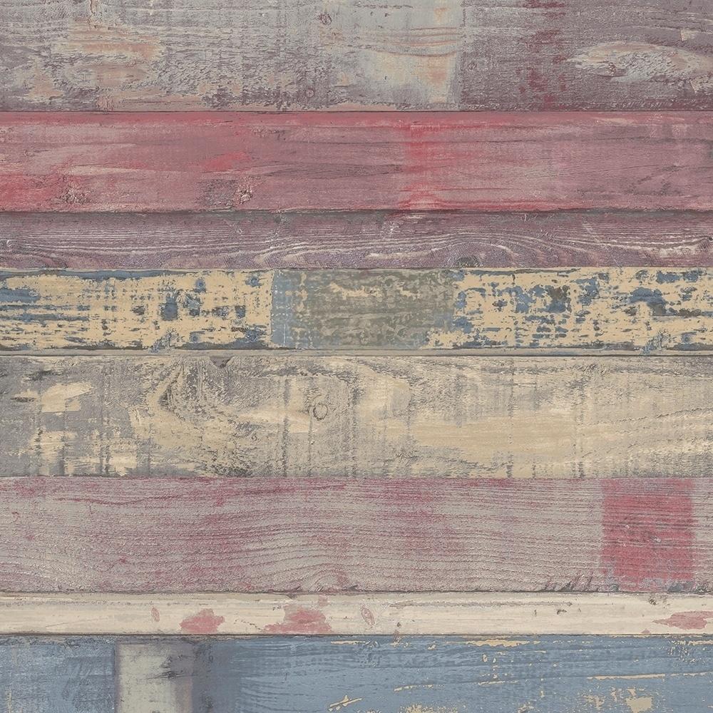 Shop Beachwood Wallpaper Wood In Red Navy Overstock 28458816