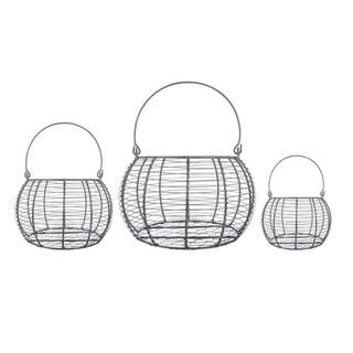 DII Round Nested Chicken Wire Basket (Set of 3)