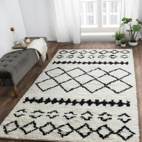 Zaragoza Handwoven Kilim Shag Wool Area Rug by Kosas Home