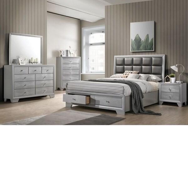 Shop Home Source Wash Queen-size Platform 6-piece Bedroom Set - Free ...