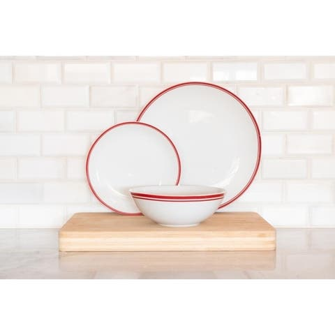 10 Strawberry Street Simply Coupe 24 Piece Dinnerware Set