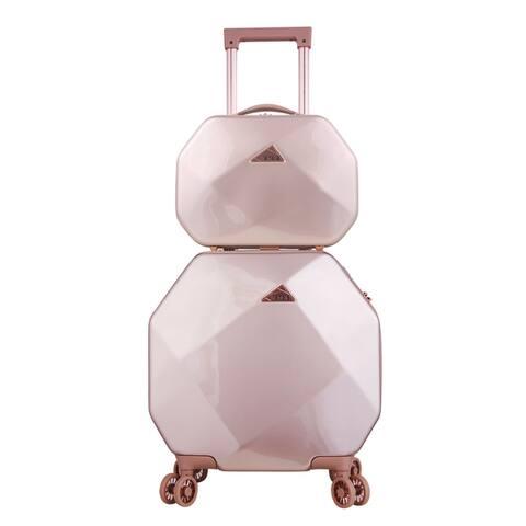Gemstone 2 Piece Spinner Luggage Set
