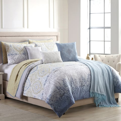 Modern Threads Angelica 10-Piece Comforter and Coverlet Set