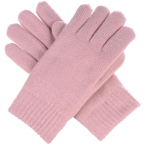 BYOS Winter Women's Toasty Warm Plush Fleece Lined Knit Gloves in Solid & Glitter