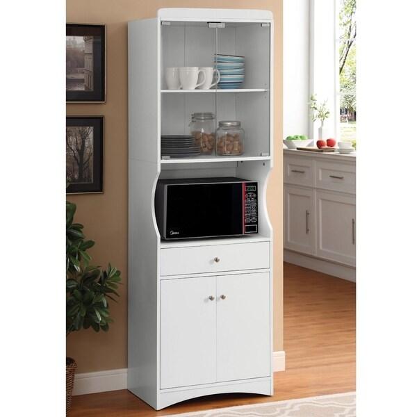 White Kitchen Cabinets For Sale: Shop Danielson Kitchen Organization White Microwave