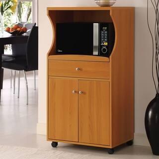 Home Source Danielson Kitchen Organization Microwave Cabinet