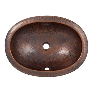 Link to Hammered Copper Oval Drop-In Lavatory Sink by The Copper Factory Similar Items in Sinks