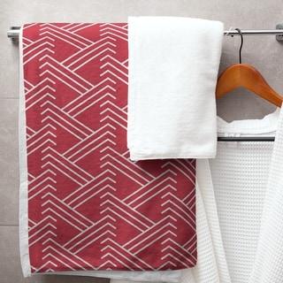 Classic Zig Zag Pattern Bath Towel - 30 x 60