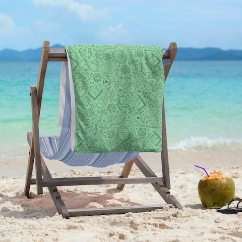 Full Color RPG Pattern Beach Towel - 36 x 72