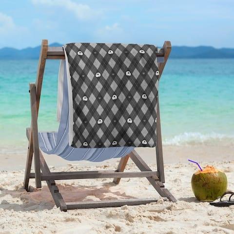 Porch & Den Aidan Argyle Skulls Pattern Beach Towel - 36 x 72