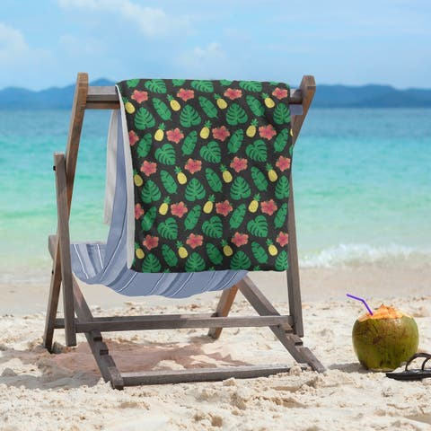 Porch & Den Darmel Tropical Pattern Beach Towel - 36 x 72