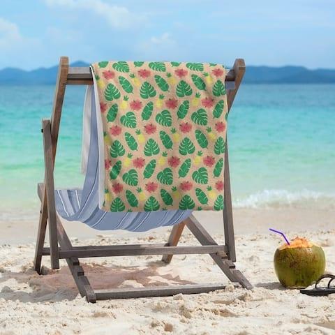 Porch & Den Darmel Tropical Pattern Beach Towel - 36 x 72