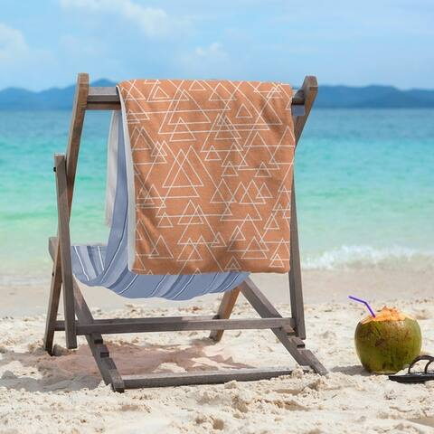 Scattered Triangles Beach Towel - 36 x 72