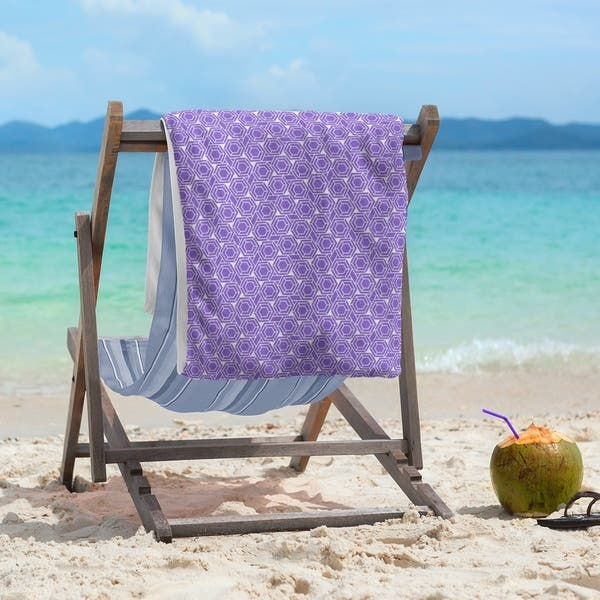 Classic Hexagonal Lattice Beach Towel 36 X 72 On Sale Overstock 28462954