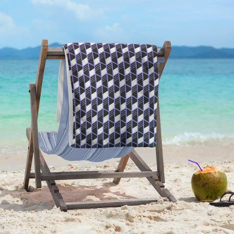 Ombre Geometric Stripes Beach Towel - 36 x 72