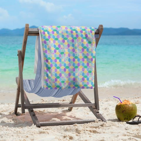 Stained Glass Pattern Beach Towel - 36 x 72