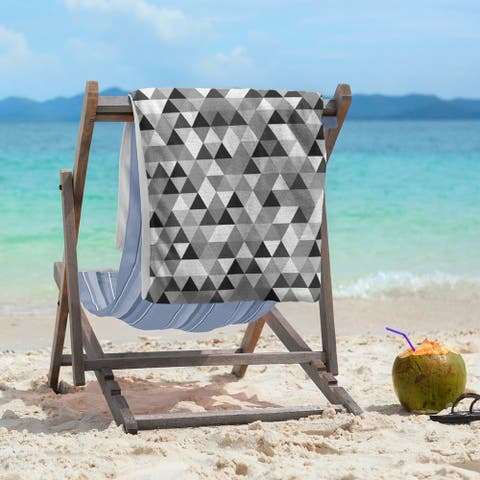 Triangle Pattern Beach Towel - 36 x 72