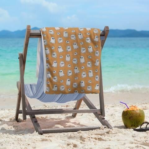 Porch & Den Hibbard Classic Ghosts Pattern Beach Towel - 36 x 72