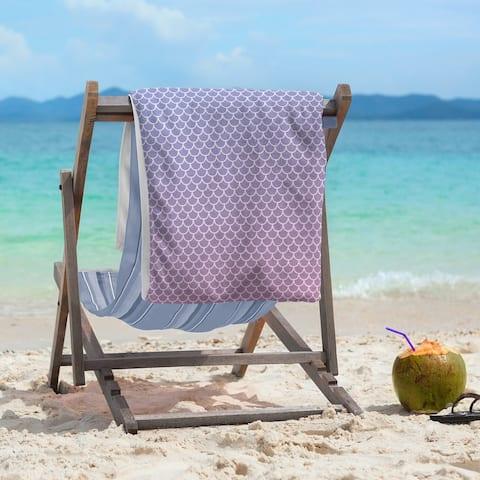 Mermaid Scales Beach Towel - 36 x 72