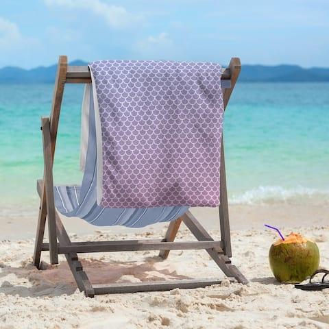 Porch & Den Alsea Mermaid Scales Beach Towel - 36 x 72