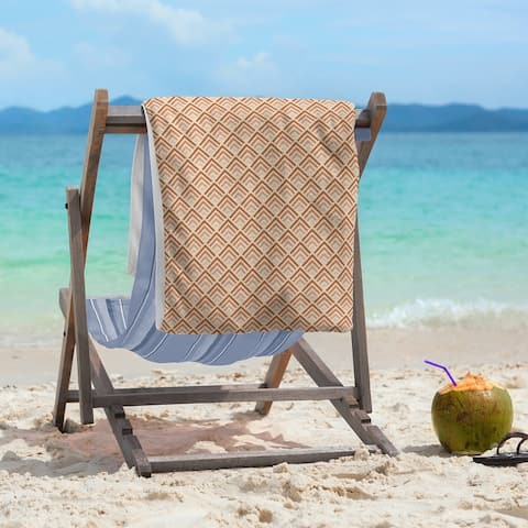 Classic Geometric Ombre Pattern Beach Towel - 36 x 72
