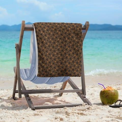 Alternate Hexagonal Lattice Beach Towel - 36 x 72