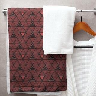 Black & Color Hand Drawn Triangles Bath Towel - 30 x 60