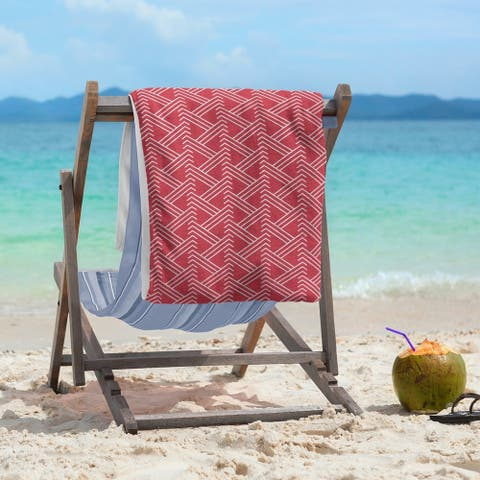Classic Zig Zag Pattern Beach Towel - 36 x 72