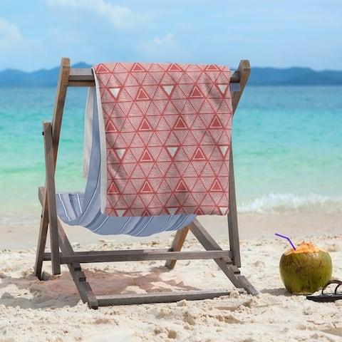 Classic Hand Drawn Triangles Beach Towel - 36 x 72