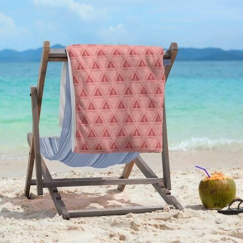 Pastel Monochrome Minimalist Trees Beach Towel - 36 x 72