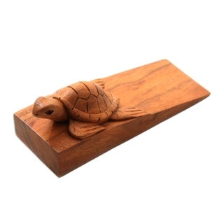 Baby Turtle Wood Door Stopper