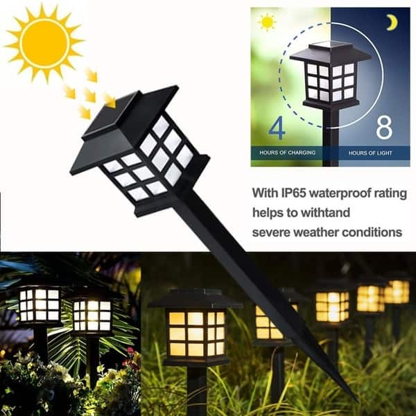 2pc Solar Power Pathway Lights Outdoor Garden Lights Solar Pathway Lights Outdoor Landscape Lighting Light For Lawn Patio Yard On Sale Overstock 28472787