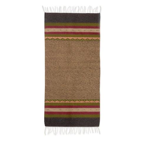 Tlacolula Earth Zapotec Wool Rug (2.5X5) - 6' x 7'