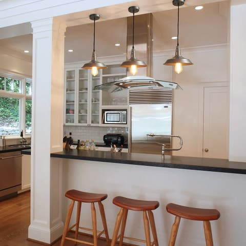 """The Gray Barn Heavenly Winds 1-light Ceiling-light Fixture in Hand-Polish Nickel Finish - D10.2' x H6.3"""""""