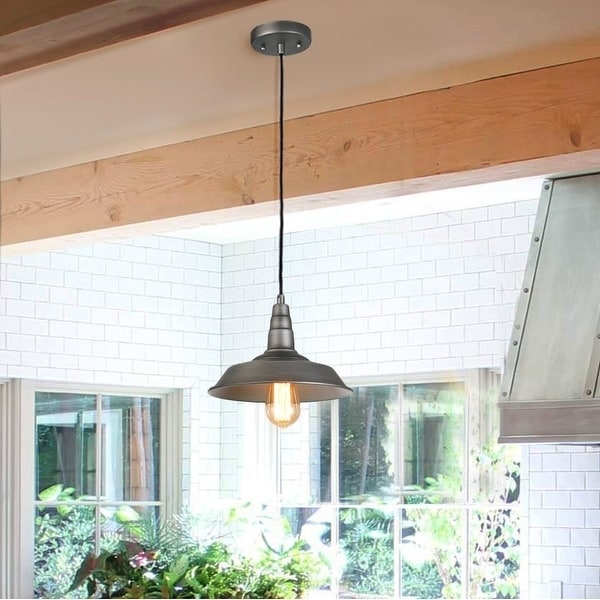 The Gray Barn Heavenly Winds 1 Light Hanging Rustic Ceiling Barn Pendant N A