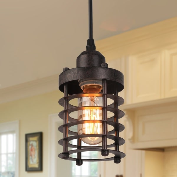 """The Gray Barn Heavenly Winds Mini Cage Pendant Rustic Circle Ceiling - L3.9"""" X W3.9"""" X H5.5"""""""