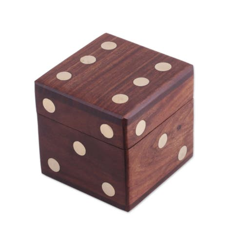 Handmade Game of Chance Wood Dice Set, Set of 5 (India)