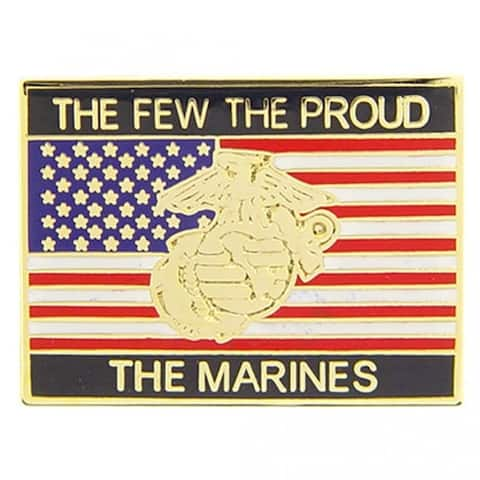 USMC Corps The Few The Proud The Marines Flag Lapel Pin