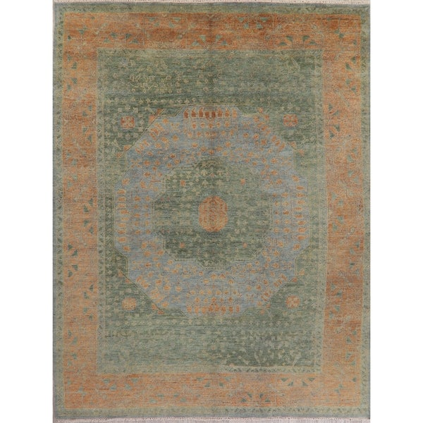 """Oushak Oriental Hand Knotted Wool Indian Area Rug - 11'9"""" x 8'11"""""""