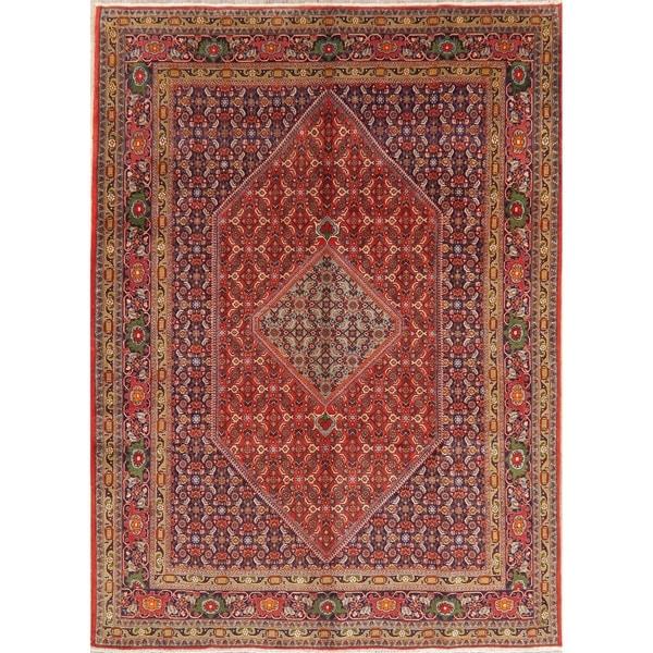 "Ardebil Diamond Oriental Hand Knotted Wool Persian Area Rug - 9'6"" x 6'9"""