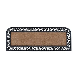 "A1HC First Impression Myla, 18"" X 48"" Rubber and Coir Molded Double Doormat"
