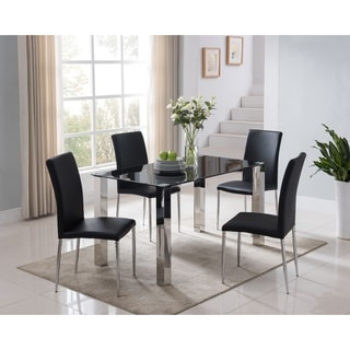 Modern Parsons Dining Table - Black