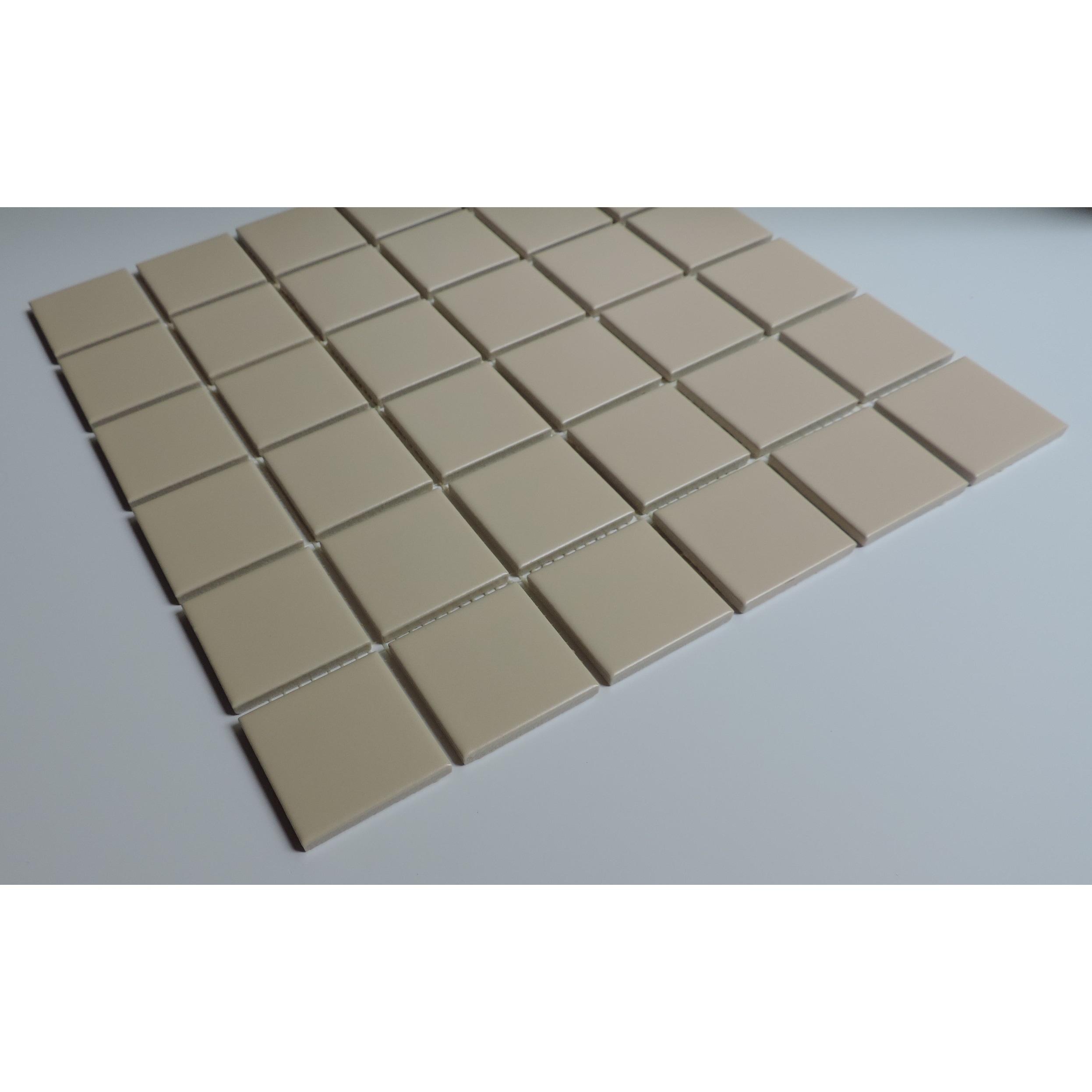 Glazed Porcelain Mosaic Tile Sheet Barcelona 2 X2 Square Matte Cream Overstock 28473448