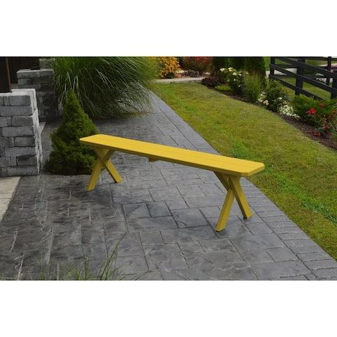 6 Foot Cross Leg Painted Picnic Bench