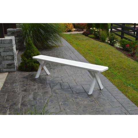 6 Foot Cross Leg Painted Picnic Bench