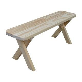 Cross Leg Picnic Bench - Unfinished Pine