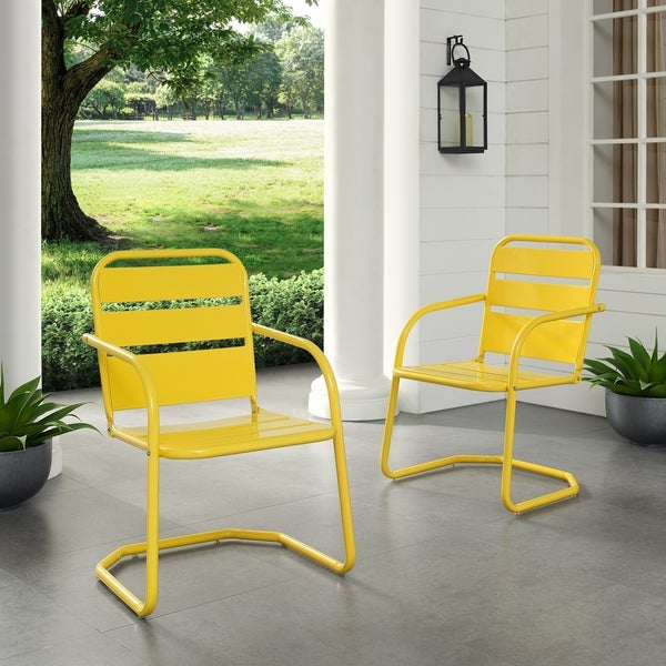 Baie Verte Yellow Metal Chairs (Set of 2) by Havenside Home. Opens flyout.
