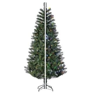 Gerson 7.5' Prelit Dual Color Changing LED Idaho Pine Artificial Christmas Tree