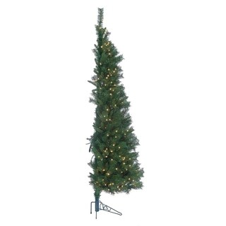 Gerson 7' Tiffany Prelit Pine Wall Tree (As Is Item)