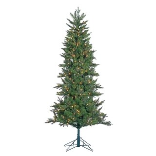 Gerson 6.5' Prelit Pencil Artificial Christmas Tree with Power Pole